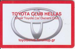 GREECE - Toyota Club Hellas, Member Card, Used - Unclassified