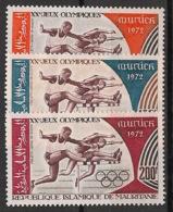 Mauritanie - 1972 - Poste Aérienne PA N°Yv. 123 à 125 - JO Munich 72 - Neuf Luxe ** / MNH / Postfrisch - Verano 1972: Munich