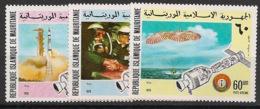 Mauritanie - 1975 - Poste Aérienne PA N°Yv. 161 à 163 - Coopération Spatiale - Neuf Luxe ** / MNH / Postfrisch - Mauretanien (1960-...)