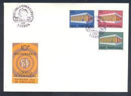 Portugal 1969 Cover: Europa CEPT;  Lisboa Cancellations - Europa-CEPT