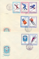 Romania 1967 FDC 10th Winter Olympic Games Grenoble 1968 On 3 Covers - Inverno1968: Grenoble