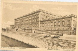 Stockholm; Palais Royal - Non Voyagé. (Chocolat Martougin - Anvers) - Suède