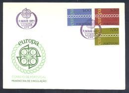 Portugal 1971 Cover: Europa CEPT;  Lisboa Cancellations - Europa-CEPT