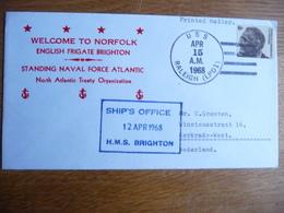 (zw) Schiffpost Shipmail .WELCOM TO NORFOLK ENGELISH FRIGATE BRIGHTON 1968 UNITED STATES. - Boten