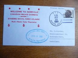 (zw) Schiffpost Shipmail .WELCOM TO NORFOLK CANADIAN FRIGATE GATINEAU 1968 UNITED STATES. - Schiffe