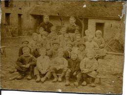 63 Montel De Gelat - PHOTO TRES ANCIENNE , ( Groupe D'Ecoliers Voir Verso ) - Autres Communes