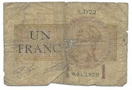 BILLET CHAMBRE DE COMMERCE DE PARIS 1 FRANC - Camera Di Commercio