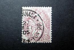 FRANCE 1900 N°108IB OBL. (BLANC. 2C BRUN-LILAS. TYPE IB) - 1900-29 Blanc