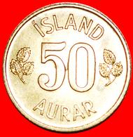 + GREAT BRITAIN BIRCH (1969-1974): ICELAND ★ 50 ORE 1974 MINT LUSTER! LOW START ★ NO RESERVE! - Islandia