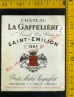Etichetta Vino Liquore Grand Cru Classe 1964 La Gaffelière-Francia - Etiquettes