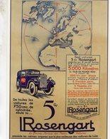 Automobiles Rosengart - Publicite D'epoque -  Centenaire Editions Carte Postale - Turismo