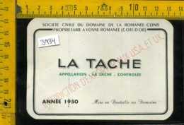 Etichetta Vino Liquore La Tache Domaine- Cote D'Or Francia - Etiquettes