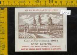 Etichetta Vino Liquore Cos D'Estournel 1964 Saint-Estèphe Francia - Etiquettes