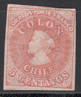 1861-67  Yvert Nº 8 NH - Chile