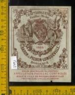 Etichetta Vino Liquore Bordeaux Chateau Longueville-Mèdoc Francia - Etiquettes
