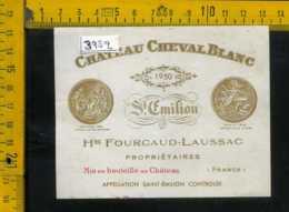 Etichetta Vino Liquore Chateau Cheval Blanc St. Emilion Francia - Etiquettes