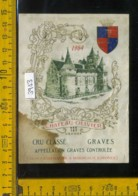 Etichetta Vino Liquore Cru Graves 1964 Chateau Olivier- Francia (difetto Macchia) - Etiquettes