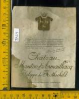 Etichetta Vino Liquore Chateau Mouton De Armailhacq-Francia (difetto Macchia) - Etiquettes