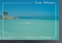 Italia Formato Grande:Cartolina COSTA SALENTINA - Saluti. Viaggiata. - Italia