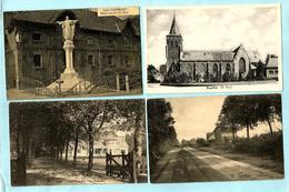 4x KAPELLEN (2) : Heidestraat + Les Pommiers + Beeld Van Het H. Hart + De Kerk - Kapellen