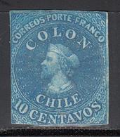 1861-67  Yvert Nº 9  NH - Chile