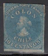 1861-67  Yvert Nº 9  (*) - Chile