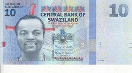 SWAZILAND 10 EMELANGENI 2010 P-36 UNC */* - Swaziland