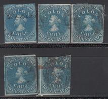 1861-67  Yvert Nº 9 - Chile