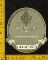 Etichetta Vino Liquore Grignolino D'Asti 1986  Villacosta-Castagnole Lanze AT - Altri