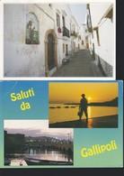 Italia Formato Grande:Cartolina GALLIPOLI(LE) - Lotto 2 Pezzi. Viaggiate. - Italia