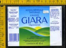 Etichetta Acqua Minerale Sorgente Giara Villasor-Cagliari - Altri