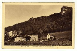 Cpa N° 5078 POLIGNY Brasserie Dubouloz Et Croix Du Dam - Poligny