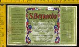 Etichetta Acqua Minerale S. Bernardo Garessio CN - Etichette
