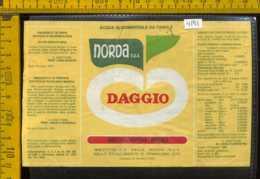 Etichetta Acqua Minerale Norda Daggio Primaluna CO - Altri