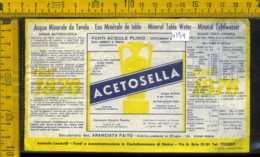 Etichetta Acqua Naturale Acetosella Fonti Acidule Plinio NA - Altri