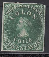 1861-67  Yvert Nº 10 - Chile