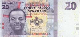 SWAZILAND 20 EMELANGENI 2010 P-37 UNC */* - Swaziland