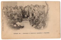 CPA VIET NAM - Tonkin - NAM DINH - 72. Danseuses Et Chanteuses Annamites à Nam-Dinh - Dos Simple - Ed. Crébessac - Vietnam
