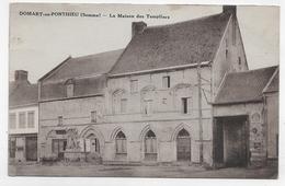 (RECTO / VERSO) DOMART EN PONTHIEU EN 1935 - LA MAISON DES TEMPLIERS - BEAU CACHET - CPA VOYAGEE - Autres Communes