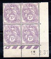 FRANCE - YT N° 233 Bloc De 4 Coin Daté - Neuf ** - MNH - Cote: 45,00 € - 1930-1939