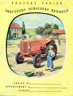 Protège-cahier Tracteurs Agricoles Renault  Et Enfant Avec Jouet Renault .Rabats Autrefois Et Aujourd'hui .Pythagore - Book Covers