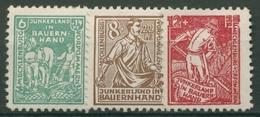 SBZ Mecklenburg-Vorpommern 1945 Bodenreform 23/25 A Mit Falz - Soviet Zone