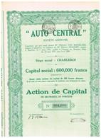 Titre Ancien - Auto Central Société Anonyme - Titre De 1931 - Automobile