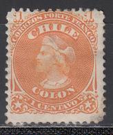1867-68  Yvert Nº 11 MH. - Chile