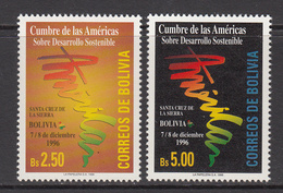 1996 Bolivia Sustainable Development Green  Complete Set Of 2 MNH - Bolivia