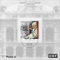 """Österreich Austria 2003: Mi-Nr. 2411 = Block 19 """"Marcel Prawy"""" (1911-2003) Mit Ersttag-o WIEN 15.1.03 (€ 4.00) - Musik"""