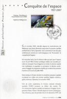 """"""" 50 ANS DE LA CONQUETE DE L'ESPACE """" Sur Notice Officielle 1er Jour De 2007. N° YT 4104. Parfait état - FDC & Gedenkmarken"""