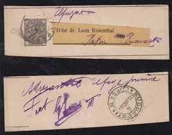 Rumänien Romania 1894 Stationery Wrapper Returned To Sender BUCURESTI IASI - Covers & Documents