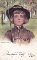 """""""BE PREPARED"""" BOY SCOUT BY PHILIP BOILEAU. REINTHAL & NEWMAN. VOYAGEE 1913 - BLEUP - Scoutisme"""