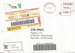 Congo 2001 Brazzaville Meter Satas EMA Registered Cover - Congo - Brazzaville
